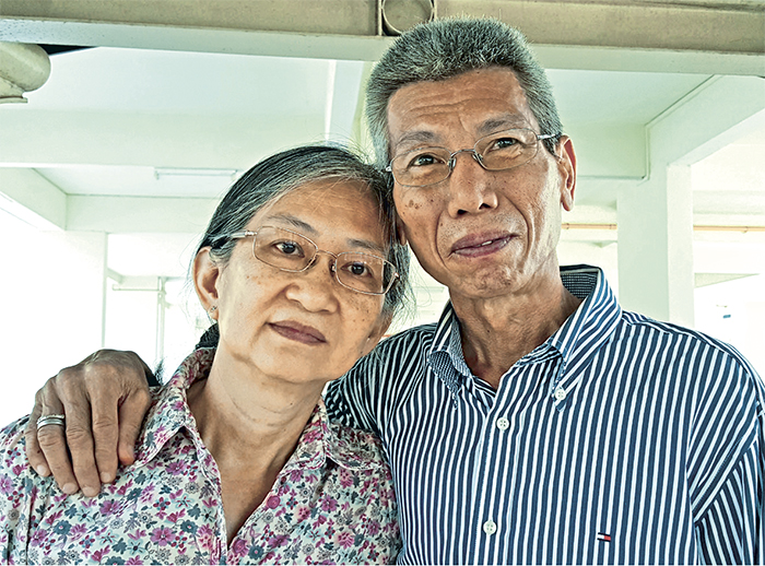 Mr Clement Lim with his wife, Diana. Photo: Archdiocesan Commission for the Family.
